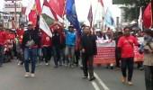 Buruh Blokade Kawasan Puspemkab Tangerang