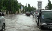 Jalur Protokol menuju Kantor Walikota Cilegon terendam Banjir