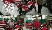 Demi Kenyamanan Pemudik, Satlantas Kota Serang dan Honda Dealer Beri Pelayanan Mobile Service Sistem