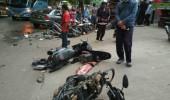 Gawat.. Pengendara Mobil Tabrak Lima Sepeda Motor dan Pejalan Kaki
