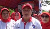 Ketua DPW Kartini Banten Ajak Ibu-Ibu Senam Sehat, Serta Bina Pendidikan Politik