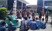 Massa HMI Datangi Kejari Lebak Pertanyakan Penangan Kasus Pembangunan Pasar Gajrug Yang Di Duga Mangkrak