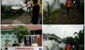 Cegah Wabah DBD, Caleg Perindo Fogging Perumahan