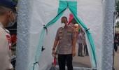 Cegah Penyebaran Covid-19, Sat Brimob Polda Banten Perketat Pemeriksaan Masuk Mako