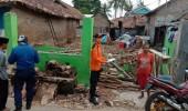 3 Rumah Roboh Di Kecamatan Ciruas  Dihantam Hujan Lebat