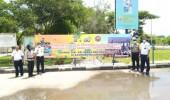 Polda Banten Pasang Spanduk dan Baleho Himbauan Masyarakat Untuk Tidak Mudik Lebaran