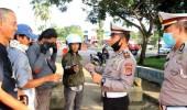 Operasi Kalimaya 2020, Satlantas Polres Lebak Bagikan Masker Gratis