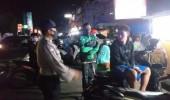 Polda Banten Berikan Himbauan Cegah Covid-19 Kepada Pengguna Sepedah Motor