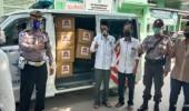 Sambut Hari Bhayangkara ke-74, Jajaran Satlantas Polres Serang Bantu Warga Tirtayasa Terdampak Covid 19