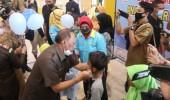 Edi Ariadi Walikota Cilegon Ajak Anak-Anak Pakai Masker