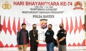Di Hari Bhayangkara Ke 74, IJTI Banten Berikan Penghargaan Kepada Humas Polda Banten