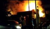 Diduga Akibat Percikan Api Dari Lilin Jatuh Sebuah Rumah Ludes Terbakar