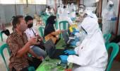 Satgas Aman Nusa II Polda Banten, Tinjau Pelaksanaan Test Swab Massal Dalam Bakti Sosial dan Kesehatan