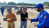 Personel Ditpolairud Polda Banten Lakukan Kegiatan Pengamanan Di Sepanjang Pantai Anyer