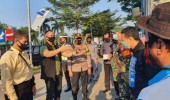 Polres Serang Lakukan Pengamanan Buruh Banten Bertolak Demo Ke Jakarta