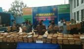 BNNP Banten Musnahkan Ganja 301 Kg Dari Selundupan Jalur Pelabuhan Bojonegara