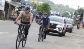 Pulang Monitor Pilkada, Wagub & Kapolda Gowes Cilegon-Serang 22 KM