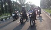 Pastikan Jalur Rombongan Presiden Aman, Jawara Polres Cilegon Laksanakan Patroli